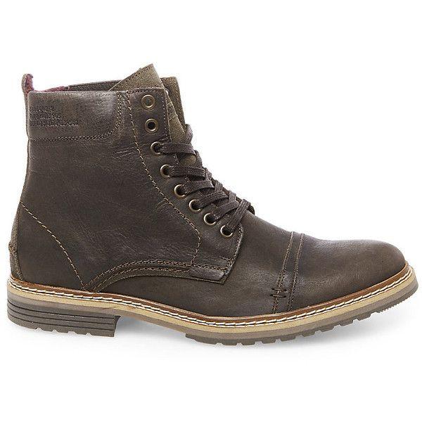 Steve Madden Men's Sargge Boots featuring polyvore, men's fashion, men's  shoes, men's boots