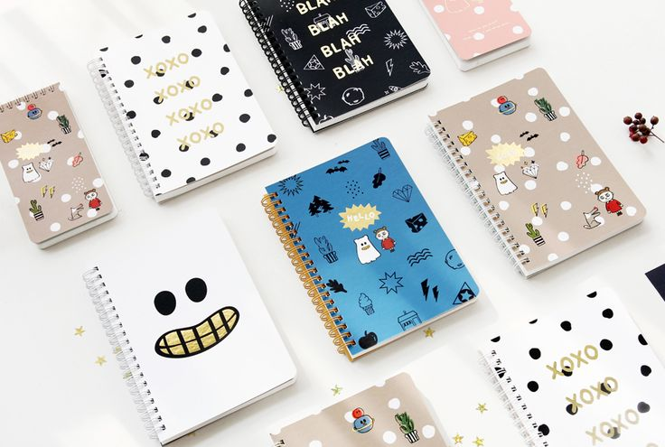 [바보사랑] 귀여운 고스트팝 캐릭터 노트 /노트/공책/학용품/새학기/스프링노트/유선노트/캐릭터/Notes/Notebook/School Supplies/Characters