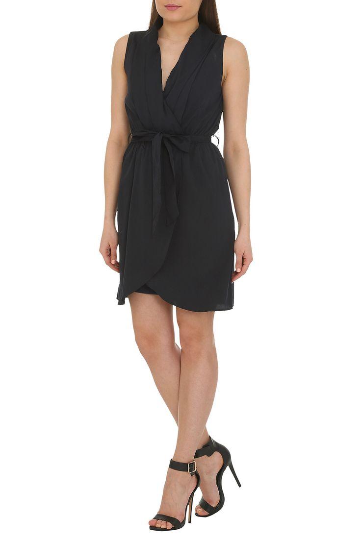Lizzie Fold Wrap Self-Tie Dress   The Design House