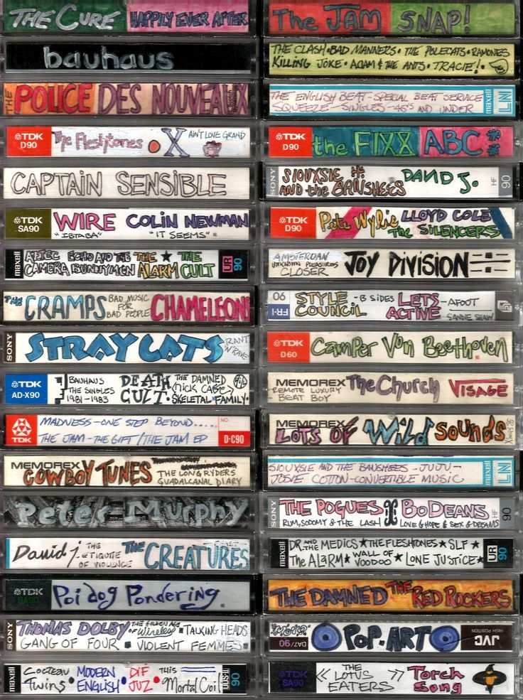 "History Image on Twitter: ""カセットテープの手書きラベル Homemade cassettes https://t.co/UxQxK3TEcI"""