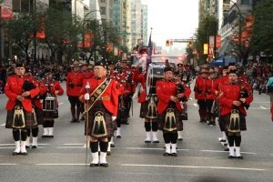 RCMP E. Division Pipe Band, Canada Day Parade, Vancouver 2012