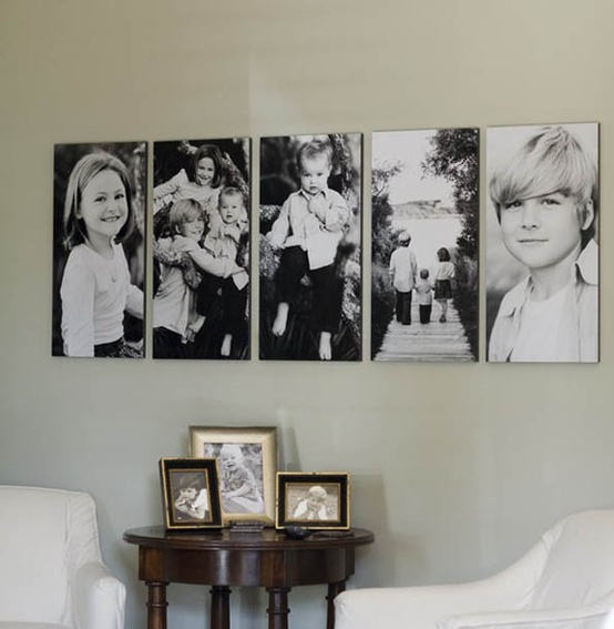 Simple and lovely. I want to do this some day. With a few of my favorite photos of each of my kids!