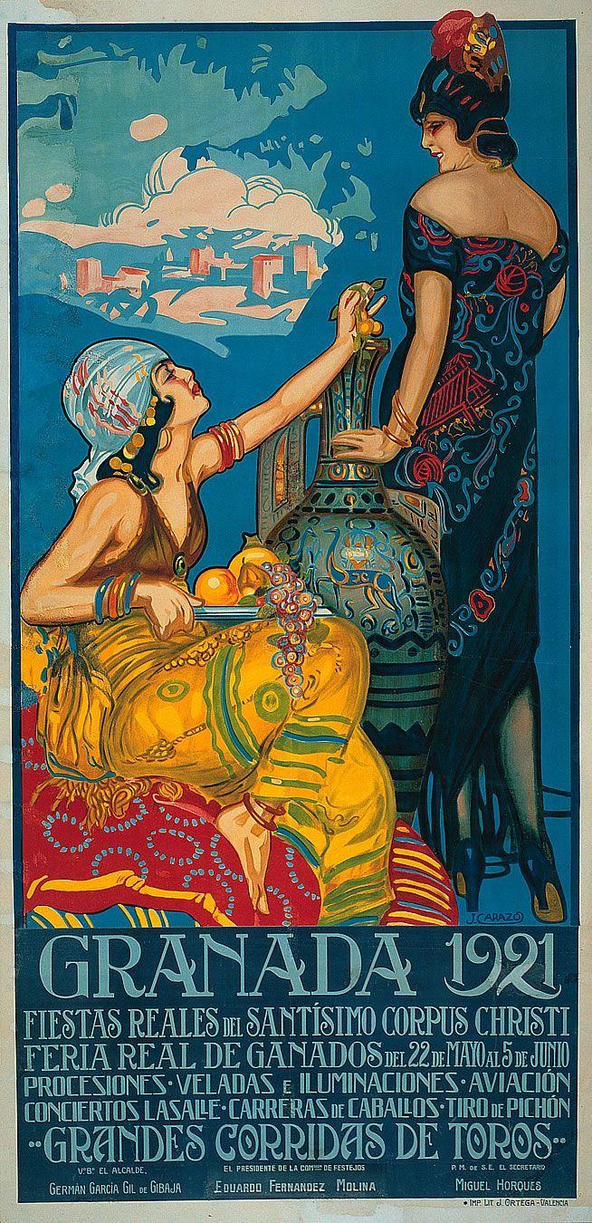 Curiosidades de Andalucía: Cartel de las fiestas del Corpus de Granada, de 1921 / Curiosities of Andalucía: Poster of the Corpus festivities in Granada, 1921