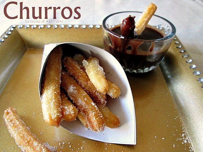 Churros messicani sono i dolcini deliziosi e davvero super buoni che vi propongo oggi...li ho preparati con una salsa di cioccolato fantastica...La cucina di ASI