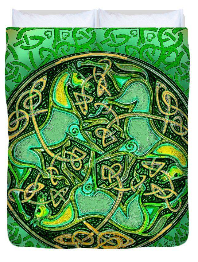 3 Celtic Irish Horses Duvet Cover for Sale by Michele