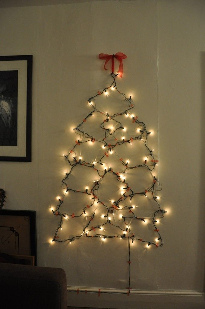 Christmas Tree Made Of Lights On Wall 37 best christmas trees made of lights images on pinterest