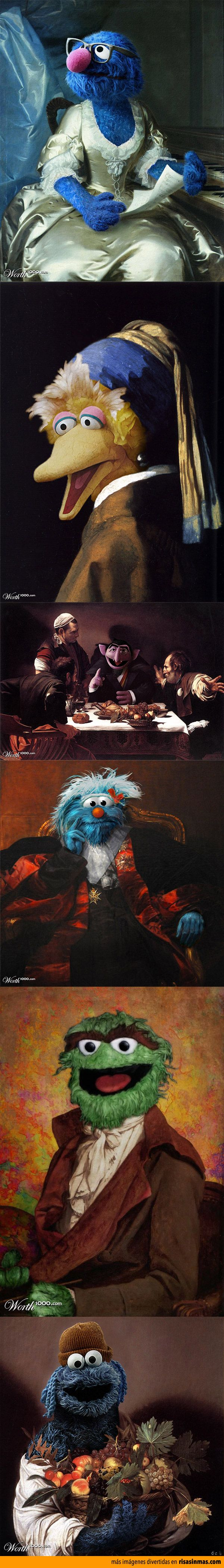 Cuadros clásicos recreados con personajes de Barrio Sésamo
