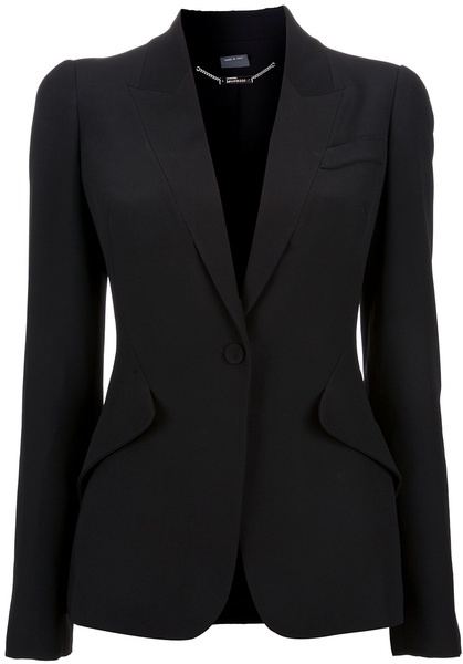 Single Button Blazer - Lyst