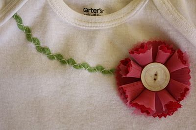 I love this blog...cute way to decorate a plain onsie