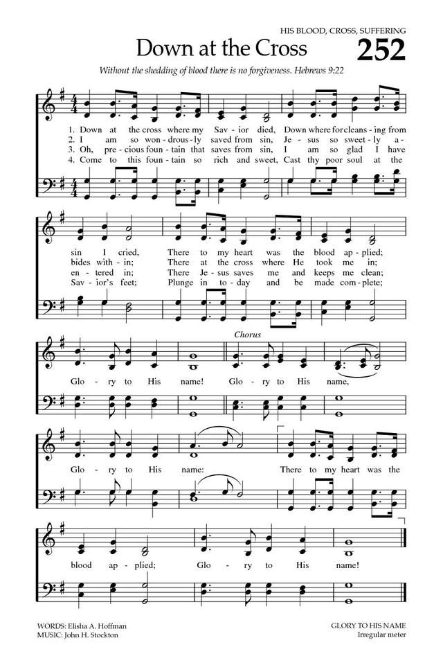 The Baptist Hymnal - Start Page and Titles List