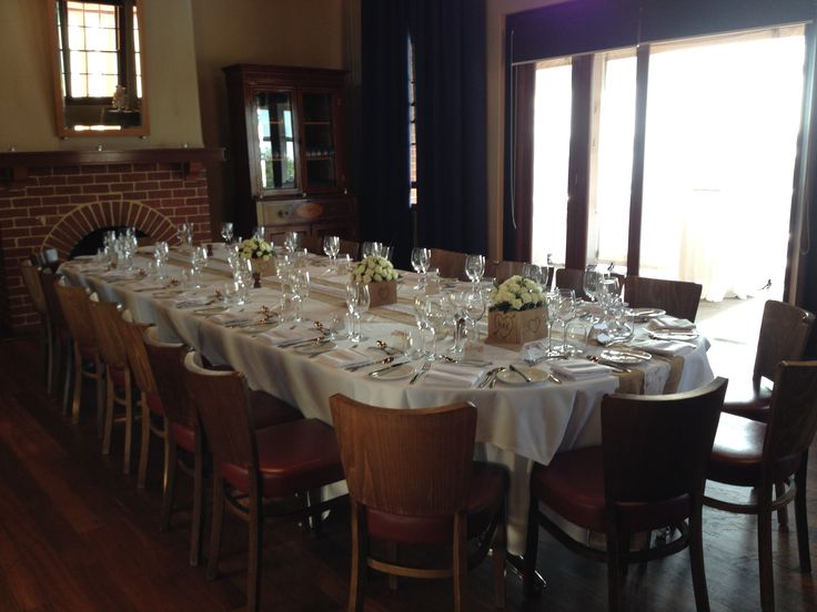 Intimate reception in the Wine Room, BWG Functions