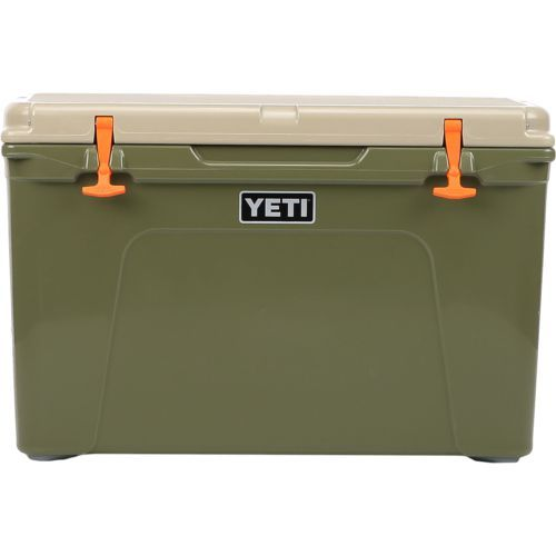 Yeti Tundra 105 Cooler Green Dark/Beige or Khaki - Ice Chests/Water Coolers at Academy Sports