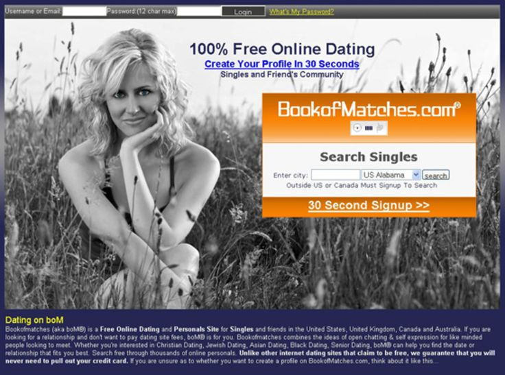 bookofmatches online dating The growth of various free dating sites like okcupid, matchdoctorcom, bookofmatches, smoothcom and crazyblinddatecom have driven the trend of online.