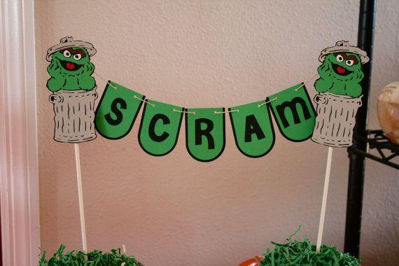 Oscar the Grouch Scram candy table by HandmadecardsbyHJM on Etsy