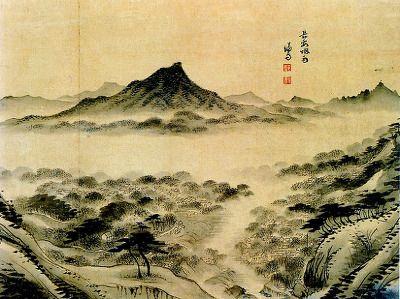 (Korea) 장안연우,1742 경교명승첩 by Gyeomjae Jeong Seon (1676- 1759). ca 18th century CE. color on paper. Gansong gallery, Seoul.