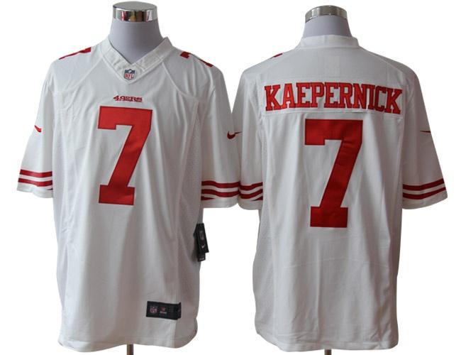 2012 Nike NFL Jerseys San Francisco 49ers 7 KAEPERNICK white (Limited) sz 2x