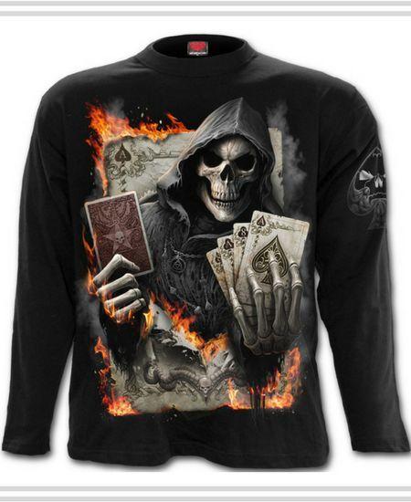 Camisetas con Calavera Tahúr  #calavera #skull #camisetas #t-shirt #xtremonline