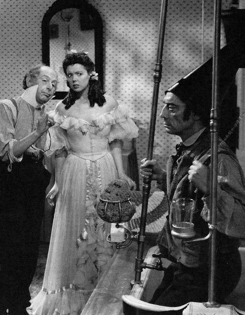"Cedric Hardwicke, Jessie Matthews and Buster Keaton in ""Forever and a Day"", 1943. The film was made to benefit the war relief effort and features nearly every major English actor working in WWII Hollywood. American Gates Trimble Pomfret is in London during the Blitz to sell the ancestral family house. The current tenant, Leslie Trimble, tries to dissuade him from selling by telling him the 140-year history of the place and the connections between the Trimble and Pomfret families."