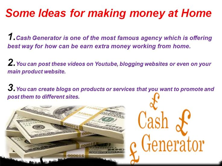 Collection of Ideas for Making Money at Home http://youtu.be/NuEBJcG9EYI
