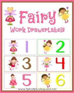 Fairy Work Drawer Labels