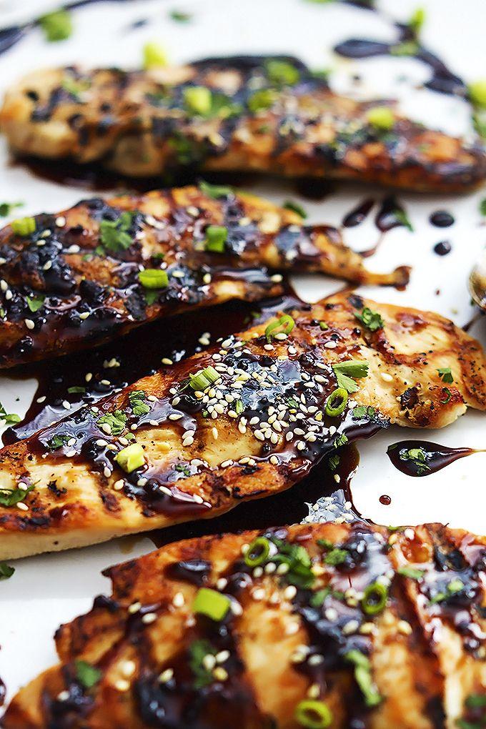 Sticky Asian Grilled Chicken | Creme de la Crumb