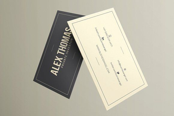 Executive Business Card by Marvel on @creativemarket