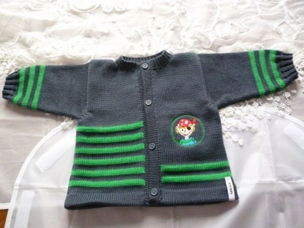 Jacken - Babyjacke Pirat - ein Designerstück von MANA-Strickdesign bei DaWanda