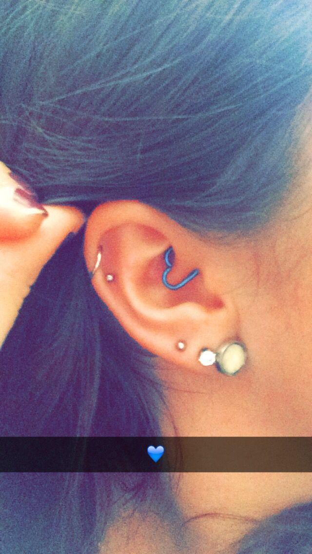 #heart #daith #triple #lobe #double #cartilage #unique #ear #piercing #jewelry