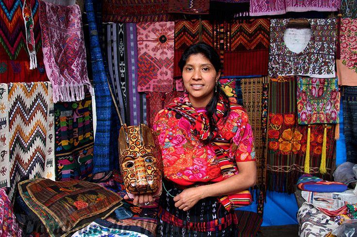 Guatemala Maskenverkäuferin chichicastenango