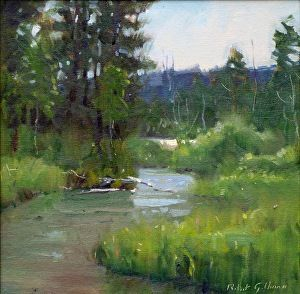 Duck Creek by Robert Goldman in the FASO Daily Art Show