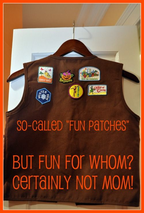Brownie vest fun patches