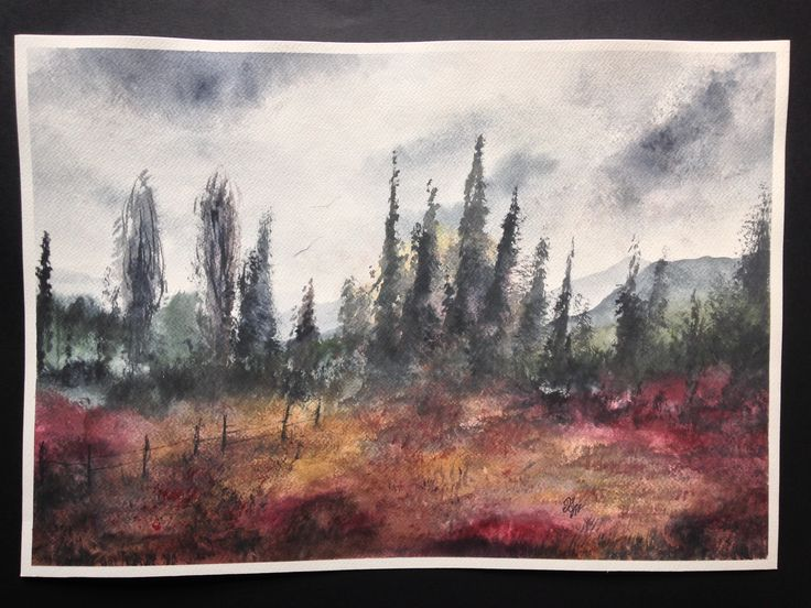 Watercolor Painting / Handmade / Gift / Wall Hanging / Home Decor / Landscape / Nature / Size: Height 13.7 Inches X Width 19.6 Inches