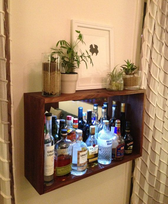 Home Bar / Liquor Shelf by jeremiahcollection on Etsy, $400.00
