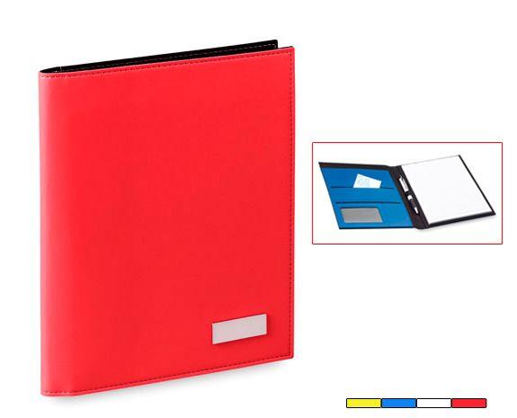 Carpeta Flash. En polipiel con bloc de 20 hojas. Disponible en 4 colores. Desde 4,93 Euros en www.areadifusion.com