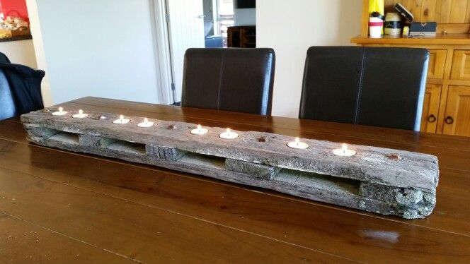 Old Fence end, turned Centre piece candle holder!