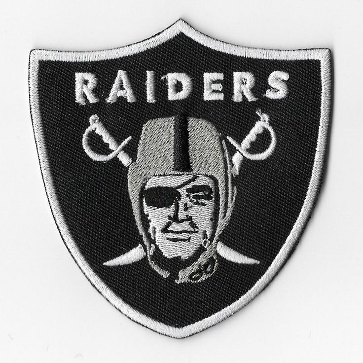 NFL Oakland Raiders Iron On Patches Embroidered Sew Applique Badge Emblem Logo #Unbranded