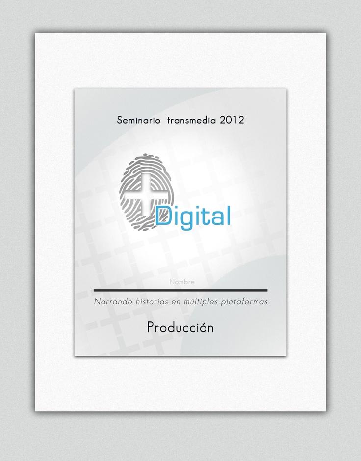 "Escarapela seminario ""transmedia"", para mas digital."