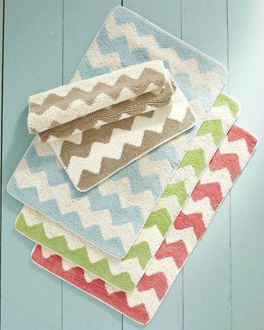 Zigzag Reversible Bath Rug eclectic bath mats