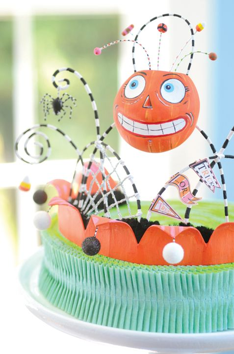 Pumpkin Tiara. Project from Glitterville's Handmade Halloween.