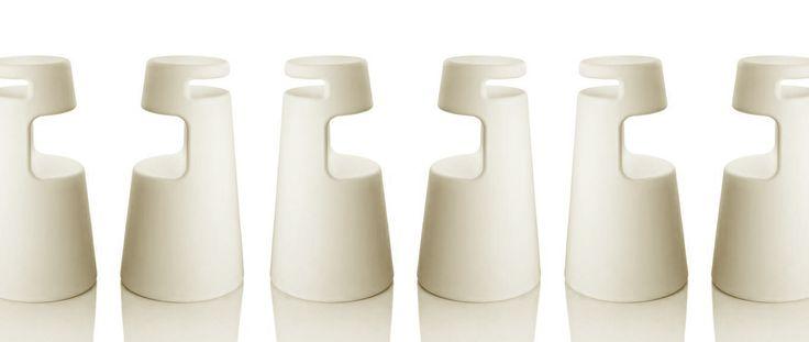stool 2525 -TOTAL WHITE -  by Sergio Mori for Alma Design - www.alma-design.it/