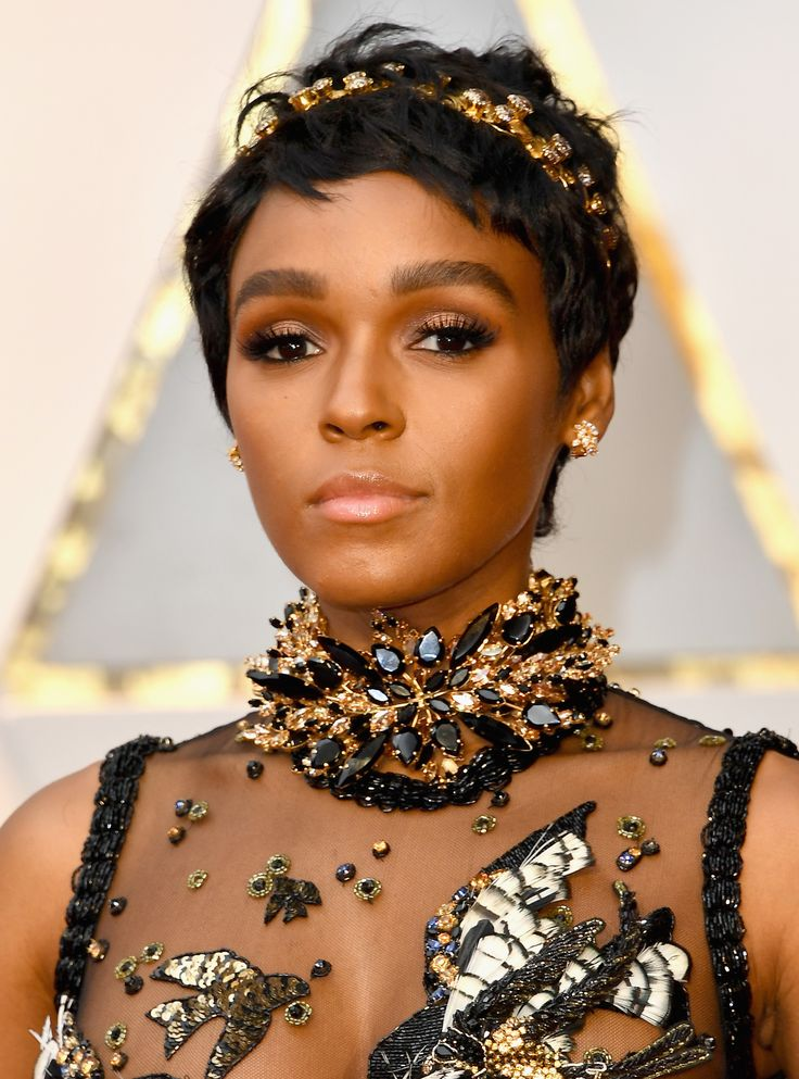 The Best, Brightest, and Most Jaw-Dropping Jewelry at the 2017 Oscars - Janelle Monae in Ellie Saab and a Custom Design from InStyle.com
