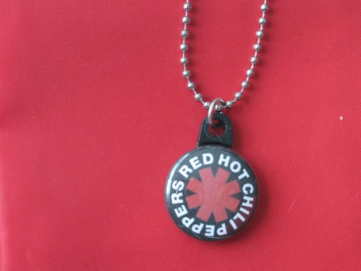 Red Hot Chili Peppers Music Button Charm Steel Ball Chain Necklace New #HandmadeorWTNABrand #StainlessSteelChain