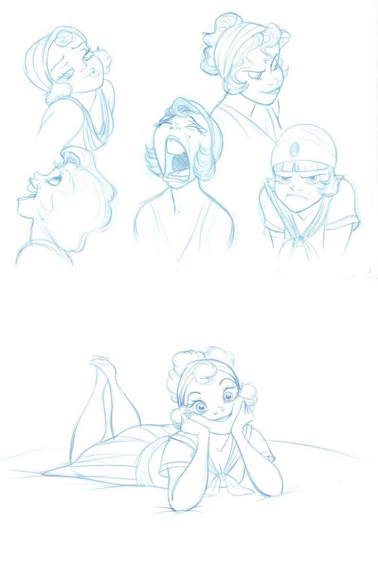 Desenhos do animador Randy Haycock para o estúdio Disney | THECAB - The Concept Art Blog