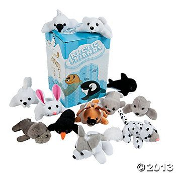 """Mini """"Arctic Friends"""" Bean Bag Animals Assortment - Oriental Trading. 