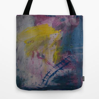 colors of the week - friday Tote Bag by Helle Pollas - $22.00