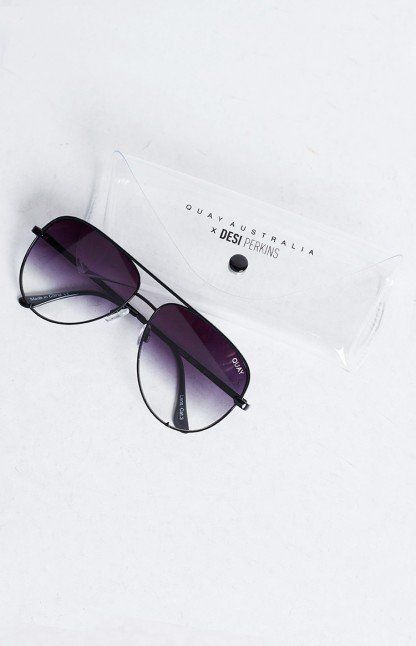 Quay X Desi High Key Sunglasses Black Fade