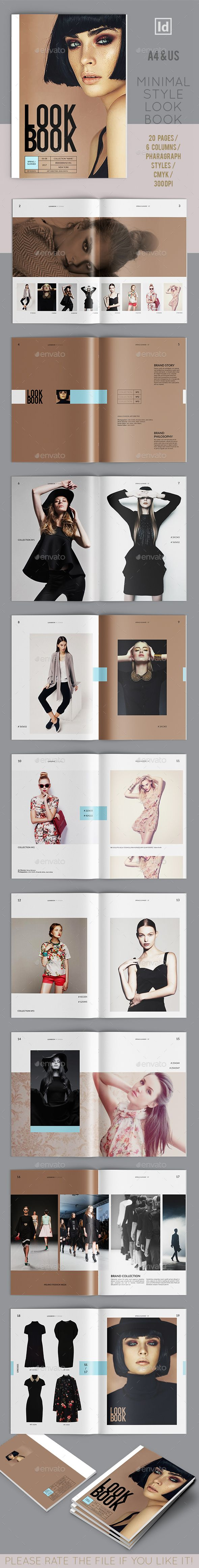 Lookbook Template InDesign INDD 20 Pages