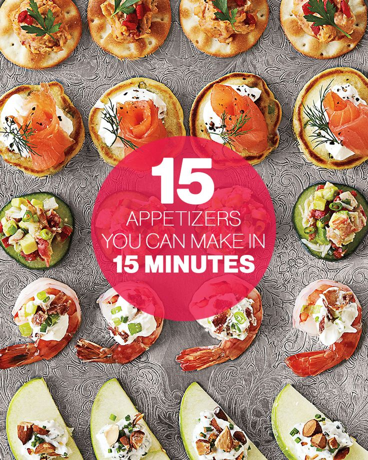 On game day, try our 15 appetizers you can make in 15 minutes. Whip one up quickly during Super Bowl half-time. #party #tailgate