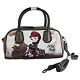 #4: Betty Boop ベティブープ、女性用バッグ ボウリングバッグ バレル ハンドバッグ ショルダーバッグ