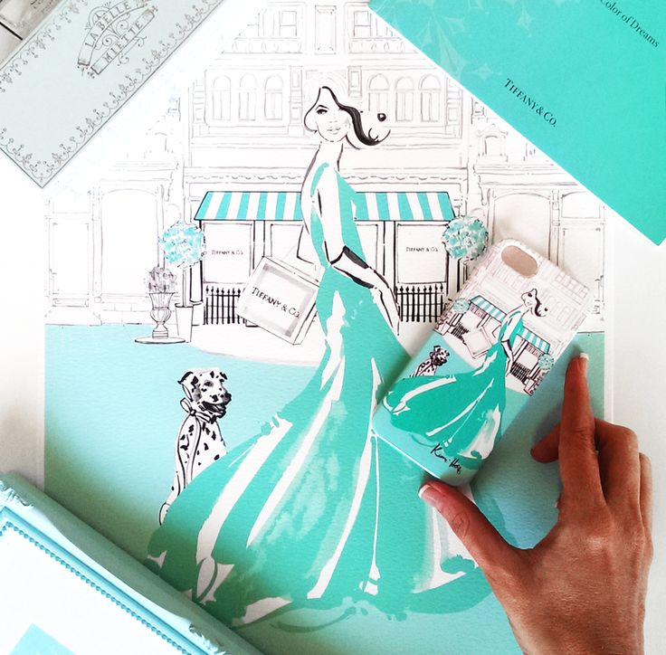 Tiffany iPhone Case from The Dairy www.thedairy.com #TheDairy #PhoneCase #iPhone5 #TiffanyandCo We're extremely excited to present our exclusive phone case collaboration with the talented Kerrie Hess Illustration. This boutique collection of iPhone & Samsung Galaxy cases are available now from www.thedairy.com Australian born artist Kerrie Hess has illustrated for CHANEL, Printemps Paris, Kate Spade New York, VOGUE and Net-a-Porter UK.